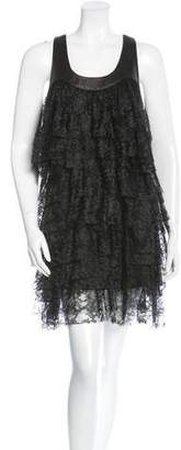 Robert Rodriguez Tiered Lace Dress