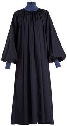 Roksanda Cressida Balloon Sleeve Dress - Womens - Navy Multi