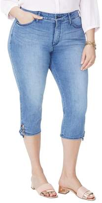 NYDJ Lace Up Hem Capri Jeans