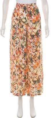 Saloni Printed Wide-Leg Pants