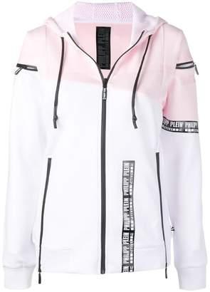 Philipp Plein full zip striped hoodie
