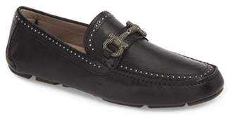 Salvatore Ferragamo Parigi Stud Border Bit Driving Moccasin