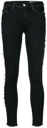 Diesel frayed detail skinny trousers