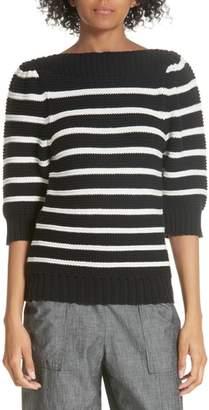 Rebecca Taylor Puff Sleeve Stripe Sweater