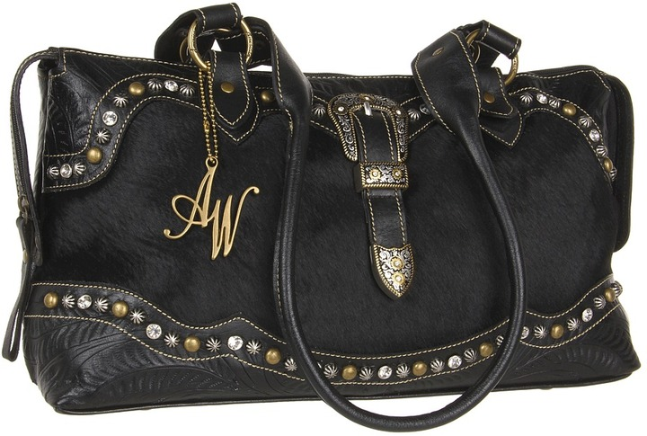 American West Midnight Horizons East-West Tote (Black) - Bags and Luggage
