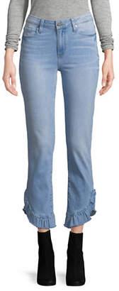 Paige Jacqueline Straight Ruffle Hem Jeans