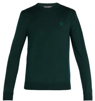 Dolce & Gabbana Virgin Wool Crew Neck Sweater - Mens - Green