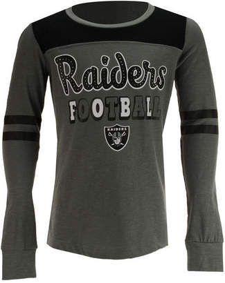 5th & Ocean Oakland Raiders Slub Long Sleeve T-Shirt, Girls (4-16)