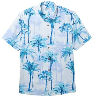 Tommy Bahama Palm Azul Print Silk Shirt (Big & Tall)