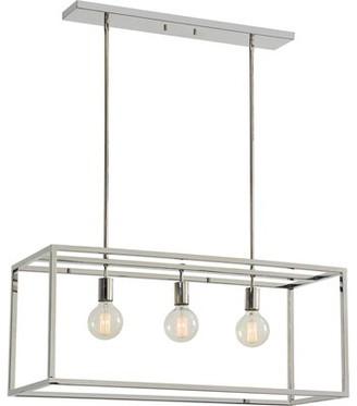 Brayden Studio Giard Stainless Steel Ceiling Fixture 3-Light Kitchen Island Pendant Brayden Studio