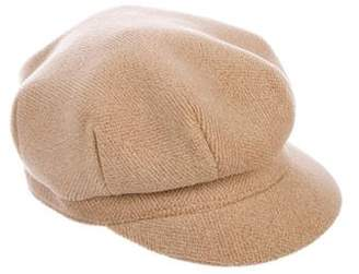 Burberry Wool Check Beret