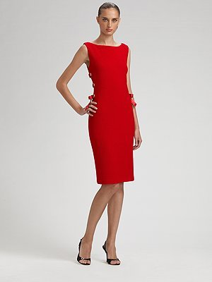 St. John Side Bow Knit Sheath