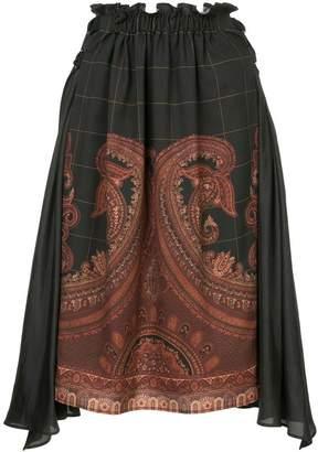 Muller of Yoshio Kubo Muller Of Yoshiokubo paisley print asymmetric skirt
