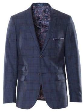 Paisley and Gray Windowpane Plaid Jacket