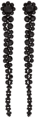 Simone Rocha Black Short Drip Earrings