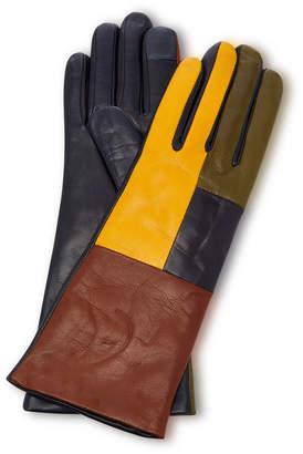 Maison Fabre Element Color Block Leather Gloves