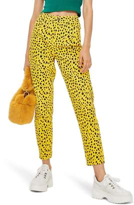 Topshop Leopard Mom Jeans