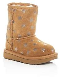 UGG Girls' Classic Short II Stars Suede Boots - Walker, Toddler