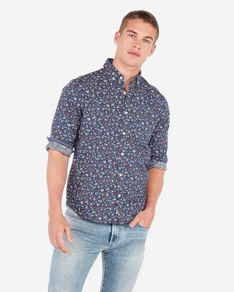 658c648a Express Classic Floral Button-Down Soft Wash Shirt