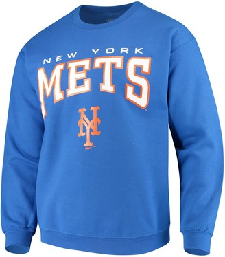 Stitches Men's Royal New York Mets Pullover Crew Sweatshirt