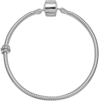 Individuality Beads Sterling Silver Snake Chain Bracelet & Stopper Bead Set