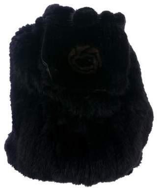 Saks Fifth Avenue Embellished Mink Backpack