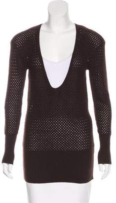 John Varvatos Long Sleeve Cutout Sweater