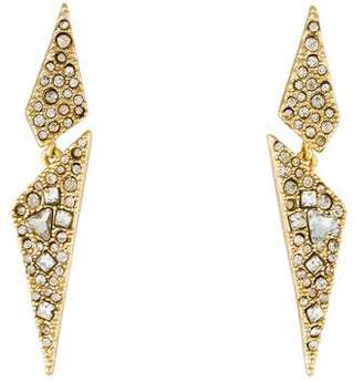 Alexis Bittar Crystal Encrusted Origami Drop Earrings