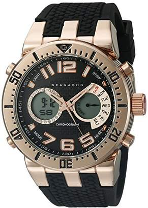 Sean John Men's 10018066 Sport Analog-Digital Display Analog Quartz Black Watch