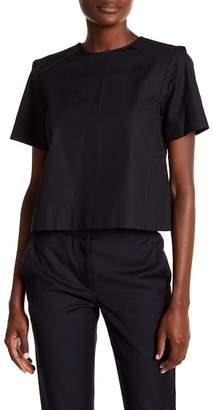 Rag & Bone Alta Short Sleeve Knit Trim Blouse