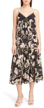N°21 N.21 N?21 Floral Print Silk Midi Dress