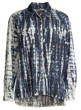 3x1 Drew Oversized Shibori Button-Down Shirt
