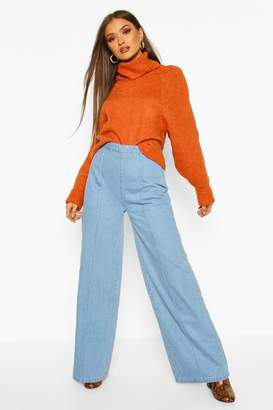 boohoo Super Wide Leg Jeans