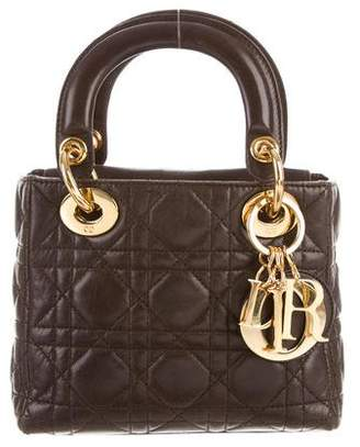 Christian Dior Micro Lady Bag w/ Strap