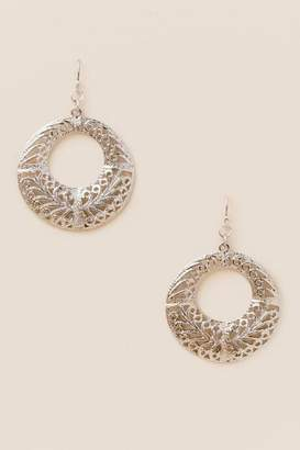 francesca's Monroe Filigree Earrings - Silver