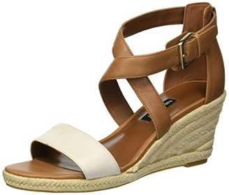 Nine West Women's JORGAPEACH Leather Wedge Sandal
