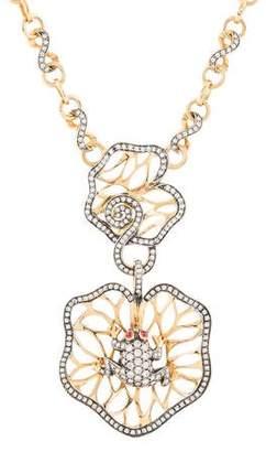 Zorab 18K Diamond & Ruby Frog Pendant Necklace