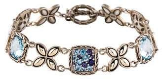 John Hardy Blue Topaz & Iolite Kawung Bracelet