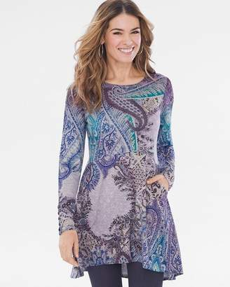 Chico's Chicos Cool Paisley Button-Sleeve Tunic