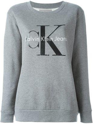 Calvin Klein Jeans lettering logo sweatshirt $102.42 thestylecure.com
