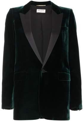 Saint Laurent velvet blazer with satin trims
