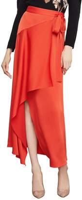 BCBGMAXAZRIA Asymmetrical Wrap Skirt