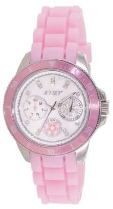Jet Set 50962-140-Amsterdam-J Women's Watch Analogue Quartz Nacre Dial Rubber Band Pink