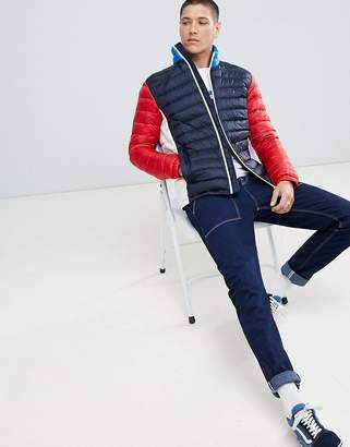 Tommy Hilfiger Sports Capsule Packable Down Puffer Icon Jacket In Colour Block