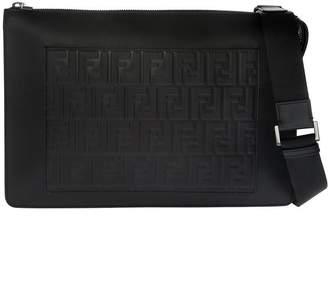 Fendi Embossed Ff Shoulder Bag