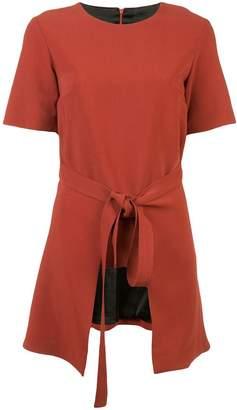 Rosetta Getty apron wrap shortsleeved T-shirt