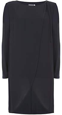 Mint Velvet Wrap Front Jersey Tunic, Dark Blue