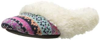 Dearfoams Girl's Patterned Knit Clog