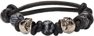 Alexander McQueen Black Stone & Skull Bracelet $375 thestylecure.com