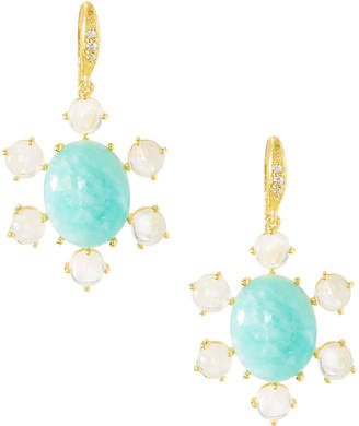 Indulgems Oval Stone Drop Earrings, Blue